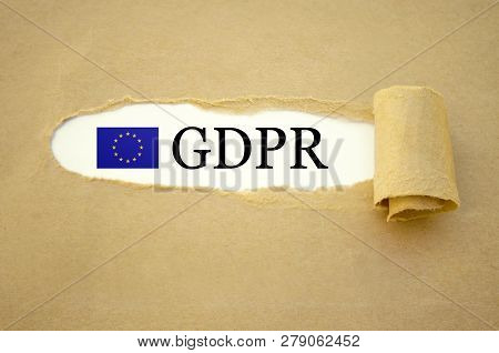 Paper Work With General Data Protection Regulation Gdpr Dsgvo