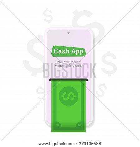 Cash App, Great Design For Any Purposes. Web, App, Banner Design. Cash Icon Flat Element. Flat Dolla