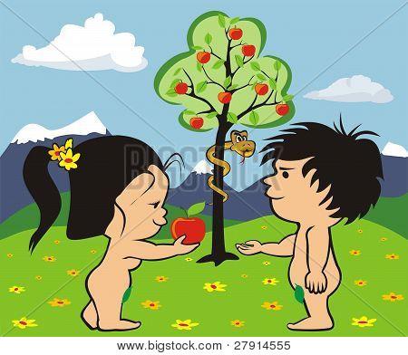 garden of eden - adam and eve