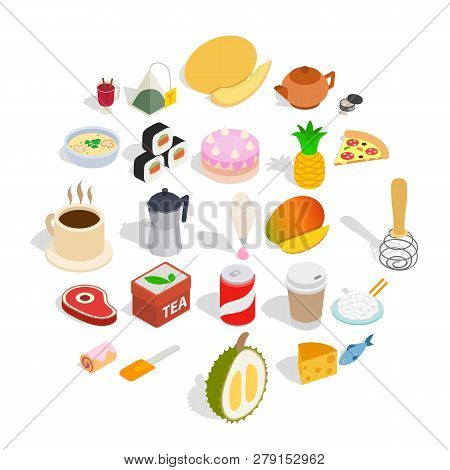 Mastery Of Cooking Icons Set. Isometric Set Of 25 Mastery Of Cooking Vector Icons For Web Isolated O