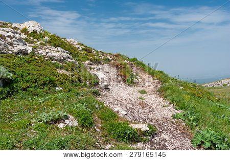 Hiking Path In Chatyr-dah Mountainous Massif, Crimean Peninsala
