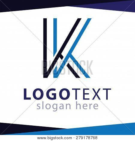 Kk Letter Line Logo  Vector Template. Vector Stock