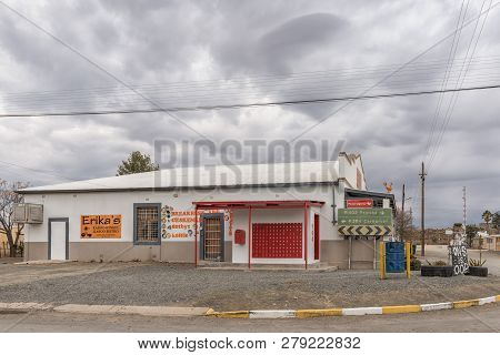 Vosburg, South Africa, September 1, 2018: A Coffee Shop, Craft Shop And Postal Agency In Vosburg In