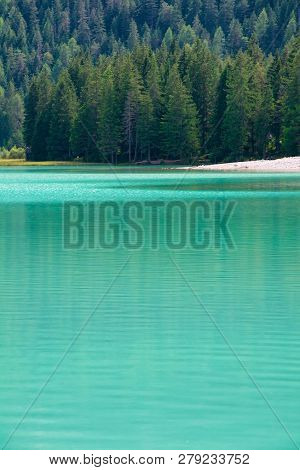 Lake Dobbiaco (lago Di Dobbiaco Or Toblacher See) Is A Lake In The Upper Val Pusteria Valley, In The
