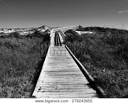 Walkway To The Ocean Beach St. Augustine, Florida
