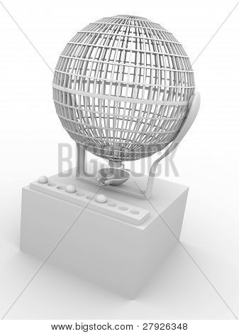 Lottery Cage In White