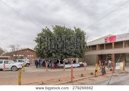 Britstown, South Africa, September 1, 2018: A Street Scene, With The Yearly Bazaar Of The Dutch Refo