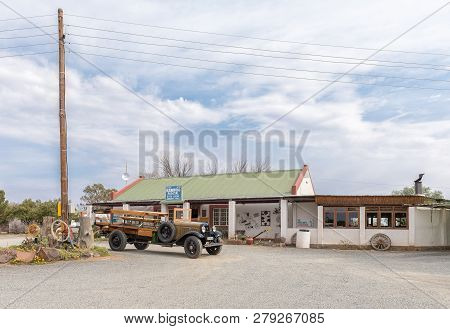 Britstown, South Africa, September 1, 2018: The Kambro Road Stall Near Britstown In The Northern Cap