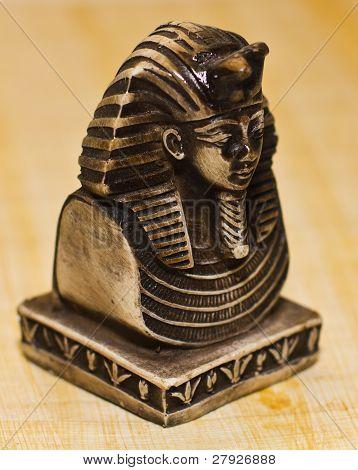 Death Mask of Tutankhamun side view