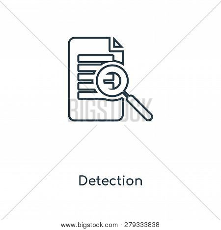 Detection Icon In Trendy Design Style. Detection Icon Isolated On White Background. Detection Vector