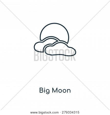 Big Moon Icon In Trendy Design Style. Big Moon Icon Isolated On White Background. Big Moon Vector Ic