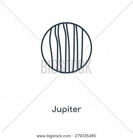 Jupiter Icon In Trendy Design Style. Jupiter Icon Isolated On White Background. Jupiter Vector Icon