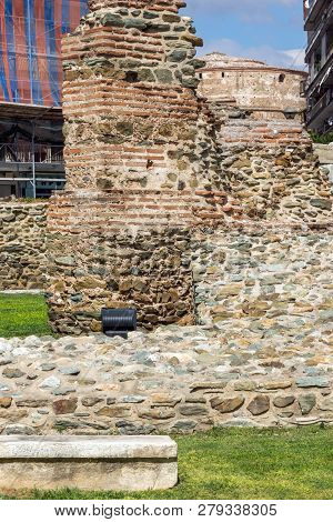 Ruins Of Telli Kapı In The Center Of City Of Thessaloniki, Central Macedonia, Greece