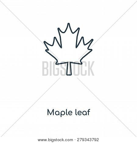 Maple Leaf Icon In Trendy Design Style. Maple Leaf Icon Isolated On White Background. Maple Leaf Vec