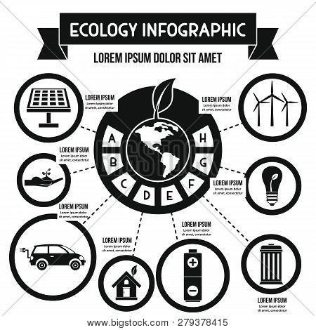 Ecology Infographic Banner Concept. Simple Illustration Of Ecology Infographic Poster Concept For We