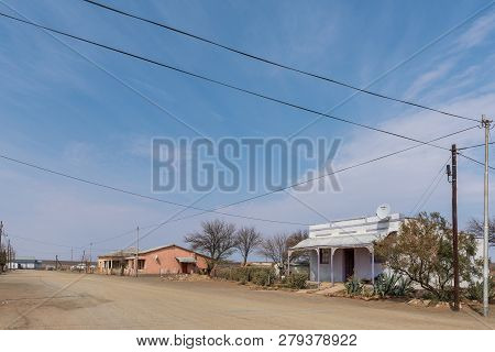 Strydenburg, South Africa, September 1, 2018: A Street Scene, With Old Houses, In Strydenburg In The