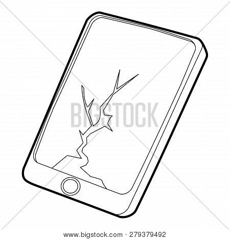 Gadget Crack Screen Icon. Outline Illustration Of Gadget Crack Screen Icon For Web Design