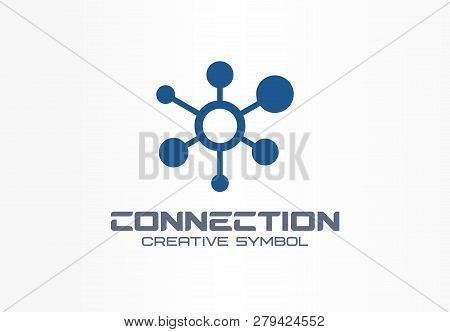 Connect Creative Symbol Concept. Social Media Network, Communication Hub Abstract Business Logo. Glo
