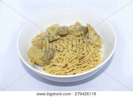 wonton chinese noodles on bowl - popular food poster