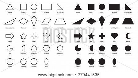 2d shapes Vector & Photo (Free Trial) | Bigstock