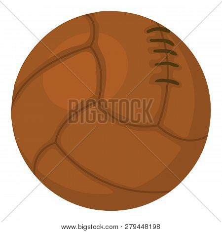 Old Volleyball Ball Icon. Cartoon Illustration Of Old Volleyball Ball Icon For Web