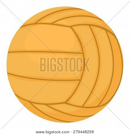 Volleyball Ball Icon. Cartoon Illustration Of Volleyball Ball Icon For Web