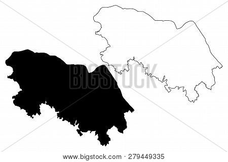 Bueng Kan Province (kingdom Of Thailand, Siam, Provinces Of Thailand) Map Vector Illustration, Scrib
