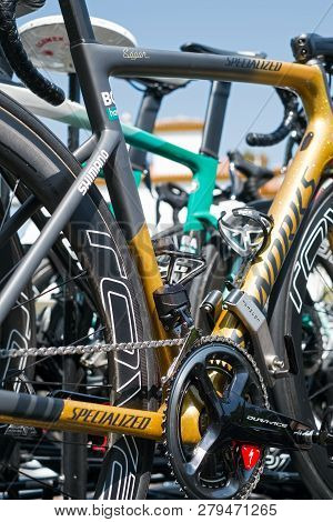Marbella, Spain - August 26th, 2018. Peter Sagan From Bora Hansgrohe Cycling Team Spare Bike, Before
