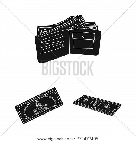 Vector Design Of Cash And Currency Logo. Set Of Cash And Stack Stock Symbol For Web.