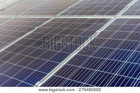 The Texture Of The Solar Panels