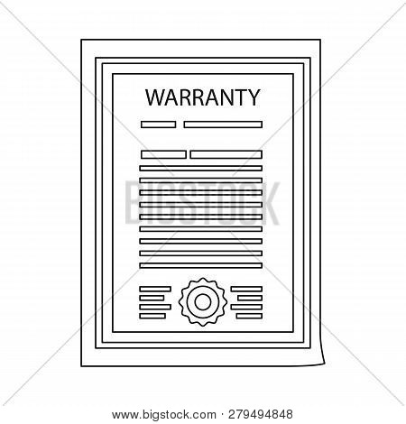 Vector Design Of Form And Document Logo. Collection Of Form And Mark Stock Vector Illustration.