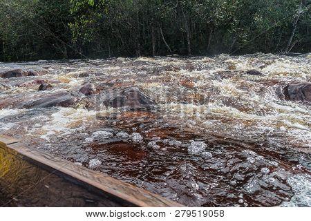 Rapids Of A River Churun In National Park Canaima, Venezuela