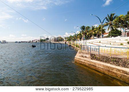 Santarem, Brazil - July 29, 2015 Riverside Promenade In Santarem Brazil