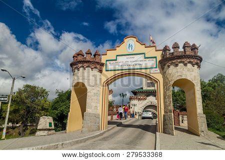 Loja, Ecuador - June 15, 2015: Puerta De La Ciudad Door To The City Gate In Loja, Ecuador
