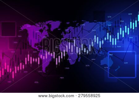Stock Market And Exchange.financial Data Chart. Chart Analytics Economic Concept. Business Concept R