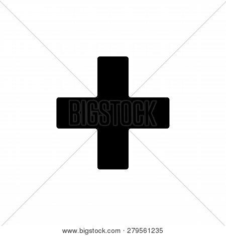 Religion Symbol, Greek Cross Icon. Element Of Religion Symbol Illustration. Signs And Symbols Icon C