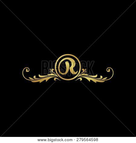 Letter R Luxury Logo, Classic And Elegant Logo Designs For Industry And Business, Boutique Logo, Gol