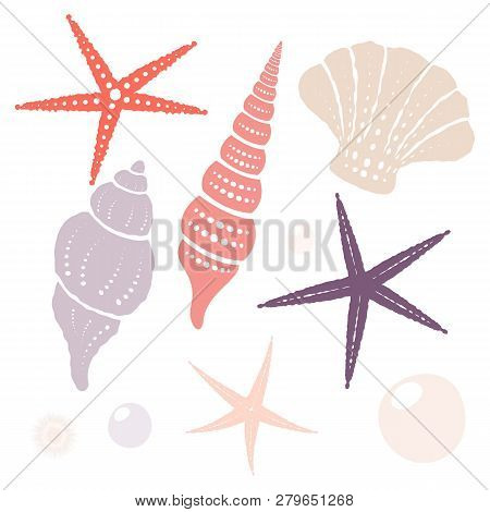 Collection Of Marine Isolated Vector Design Elements. Eps 10