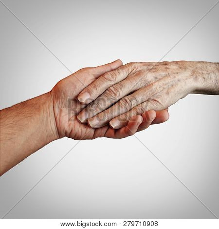 Alzheimer Patient Care Or Elderly Dementia Homecare As A Supportive Caregiver Providing End Of Life