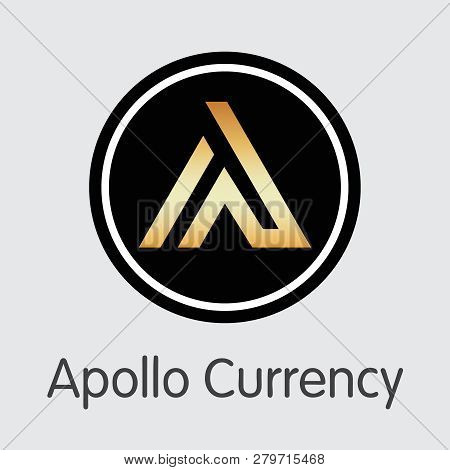 Apl - Apollo Currency. The Icon Of Coin Or Market Emblem.