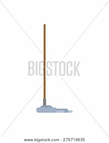 Mop Isolated. Swob With Rag. Janitor Accessory