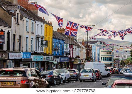 Union Jack Flags In Belfast