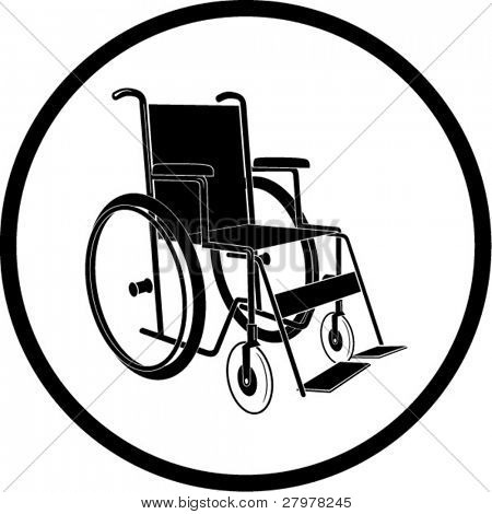 Vector invalid chair icon. Black and white. Simply change. In my portfolio there is version 4 in 1.