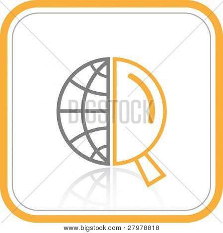 Vector abstract internet icon. Orange set. Simply change. Other abstract icons you can see in my portfolio. poster