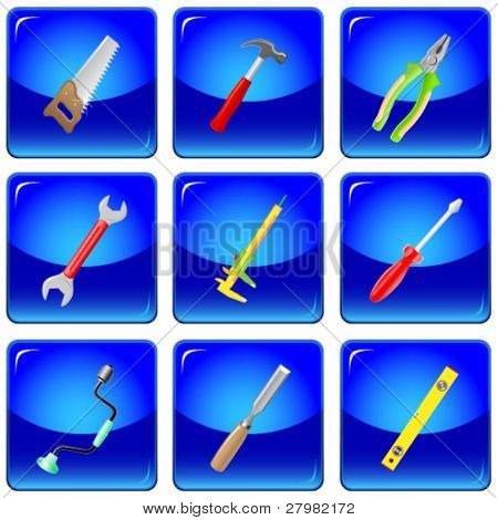 vector icons of tools