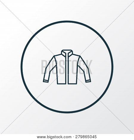 Jacket Icon Line Symbol. Premium Quality Isolated Cardigan Element In Trendy Style.