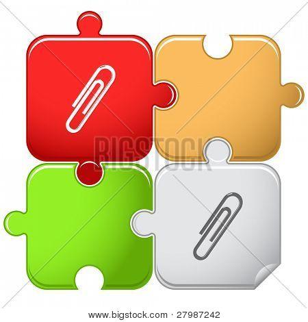 Clip. Vector puzzle.