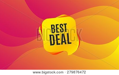 Best Deal. Special Offer Sale Sign. Advertising Discounts Symbol. Wave Background. Abstract Shopping