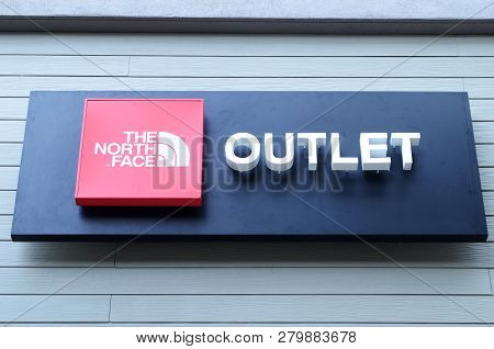 Genting Highlands, Malaysia- Dec 03, 2018: The North Face Outlet At Genting Highlands Premium Outlet