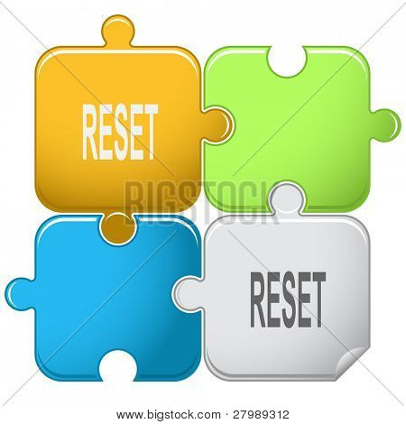 Reset. Vector puzzle.